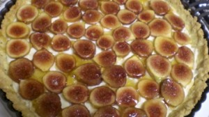 Fig and Lemon Marscarpone Tart in Rosemary Cornmeal Crust