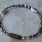 Purple and Grey Bracelet