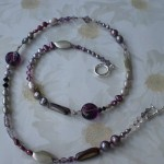 Purple and Grey Necklace